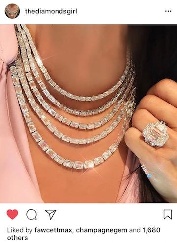 The Diamonds Girl ASHOKA diamond necklace post
