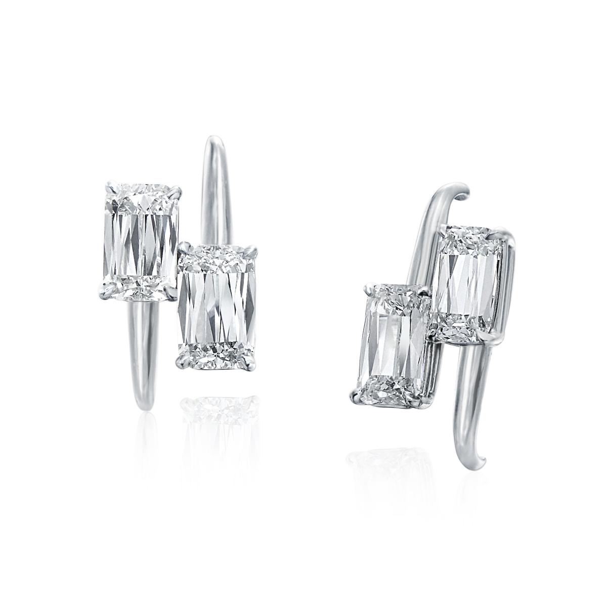 ASHOKA Diamond Bypass Stud Earrings