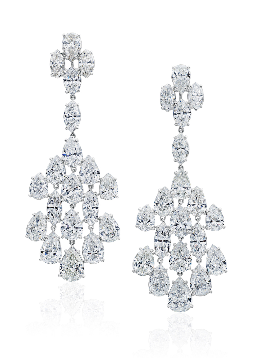 Fancy Shape dale Chandelier Earrings