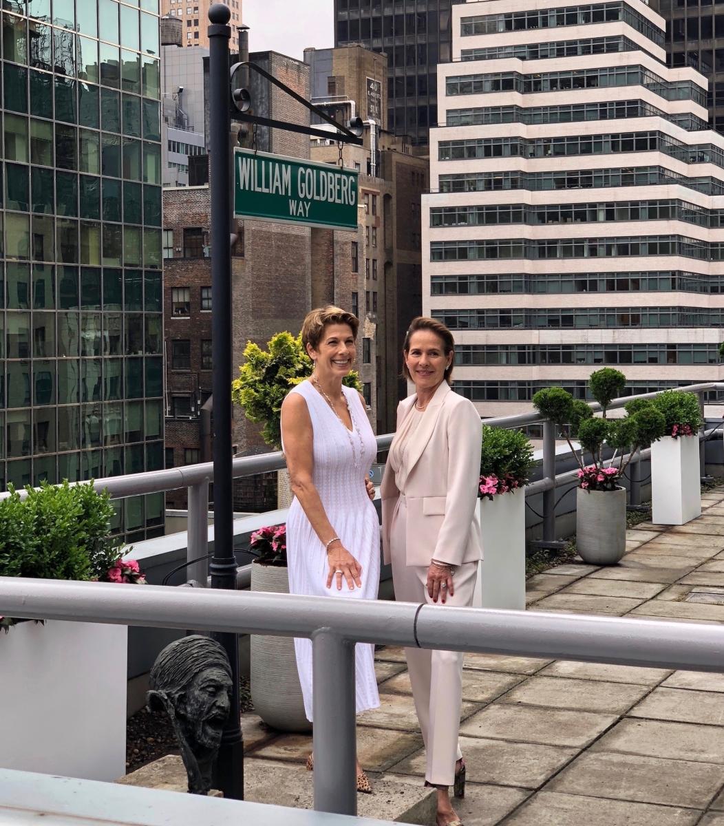 Eve Goldberg and Kim-Eva Wempe William Goldberg Way