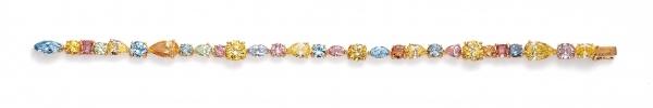 Lili Goldberg Fancy Color Diamond Line Bracelet