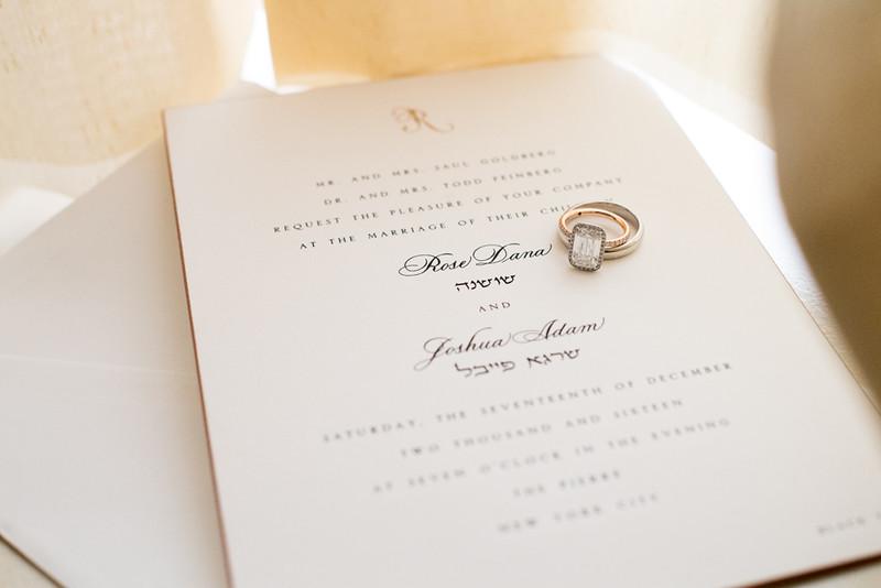Rose Goldberg Wedding Invitation