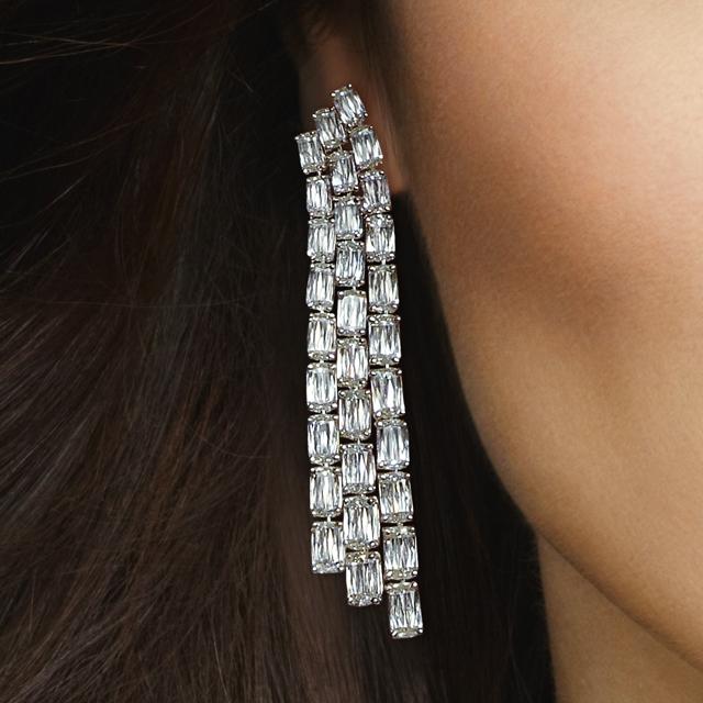ASHOKA Triple Row Chandelier Earrings